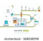mobile marketing concept.... | Shutterstock .eps vector #368038598