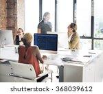 designer meeting colleague... | Shutterstock . vector #368039612