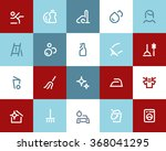cleaning service icons set.... | Shutterstock .eps vector #368041295