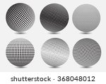 halftone sphere.halftone vector ... | Shutterstock .eps vector #368048012