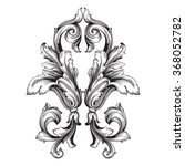 vintage baroque frame scroll... | Shutterstock .eps vector #368052782