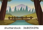 small wooden bridge  | Shutterstock .eps vector #368054396