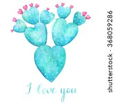 Watercolor Cactus With Text I...