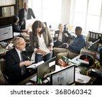 business team working office... | Shutterstock . vector #368060342