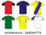 uniform soccer team jersey    Shutterstock .eps vector #368064776