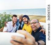 diversity friends selfie photo... | Shutterstock . vector #368065316