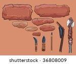 stone frames and primitive... | Shutterstock .eps vector #36808009