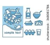 dairy produce  vector...   Shutterstock .eps vector #368081786