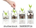 woman hand with money coins in...   Shutterstock . vector #368083916