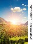 beautiful mountain landscape... | Shutterstock . vector #368089682