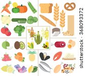 the 5 food group nutrition... | Shutterstock .eps vector #368093372