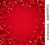 Romantic Red Heart Background....