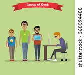 geek group team people flat... | Shutterstock . vector #368094488