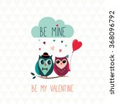 valentine's day greeting card | Shutterstock .eps vector #368096792