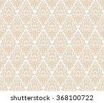 gold damask seamless vector... | Shutterstock .eps vector #368100722