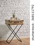 Old Suitcase Desk With Brick...