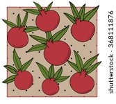 pomegranate pattern in the... | Shutterstock .eps vector #368111876
