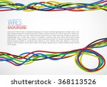 abstract colorful wire... | Shutterstock .eps vector #368113526