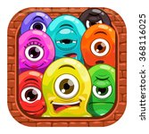 cartoon app icon design with...