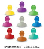 set of colored icons man | Shutterstock .eps vector #368116262