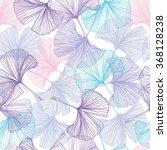 gingko biloba seamless vector...   Shutterstock .eps vector #368128238