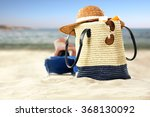 sea and beach background with... | Shutterstock . vector #368130092