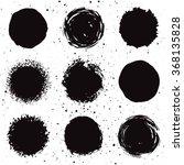 set of 9 hand drawn grunge...   Shutterstock .eps vector #368135828