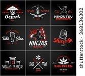 set of japan ninjas logo.... | Shutterstock .eps vector #368136302