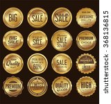 sale retro vintage golden... | Shutterstock .eps vector #368136815