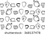 black and white vector sketch... | Shutterstock .eps vector #368137478