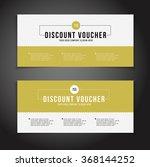 gift or discount voucher... | Shutterstock .eps vector #368144252
