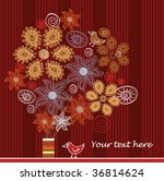 vector bouquet with place for... | Shutterstock .eps vector #36814624