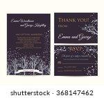 winter wedding invitation set | Shutterstock .eps vector #368147462