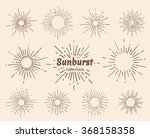 vintage hand drawn sunbursts... | Shutterstock .eps vector #368158358