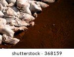 sandbags at the flood location   Shutterstock . vector #368159