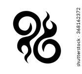 tribal tattoo vector design...   Shutterstock .eps vector #368162372