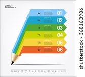 creative template with pencil... | Shutterstock .eps vector #368163986