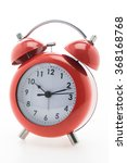 red classic alarm clock... | Shutterstock . vector #368168768