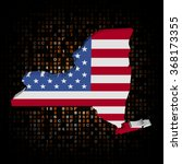 new york map flag on hex code... | Shutterstock . vector #368173355