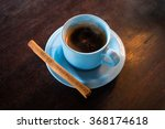 cup of luwak coffee with ginger ...   Shutterstock . vector #368174618