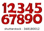 red number foil balloon set... | Shutterstock . vector #368180012