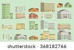 flat vector buildings. | Shutterstock .eps vector #368182766