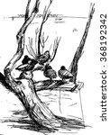 vector hand drawn illustration... | Shutterstock .eps vector #368192342
