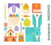 vector easter concept. easter... | Shutterstock .eps vector #368202422