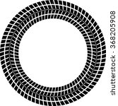 tire track vector round border... | Shutterstock .eps vector #368205908