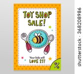 toy shop bright vector sale... | Shutterstock .eps vector #368208986