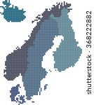 square shape nordic counties...   Shutterstock .eps vector #368222882