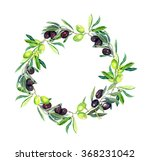 olives branches  olive tree .... | Shutterstock . vector #368231042