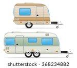 car trailer caravan mobil home... | Shutterstock .eps vector #368234882
