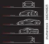 modern super car  sports car... | Shutterstock .eps vector #368240825